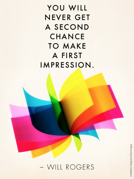 quote power of first impression