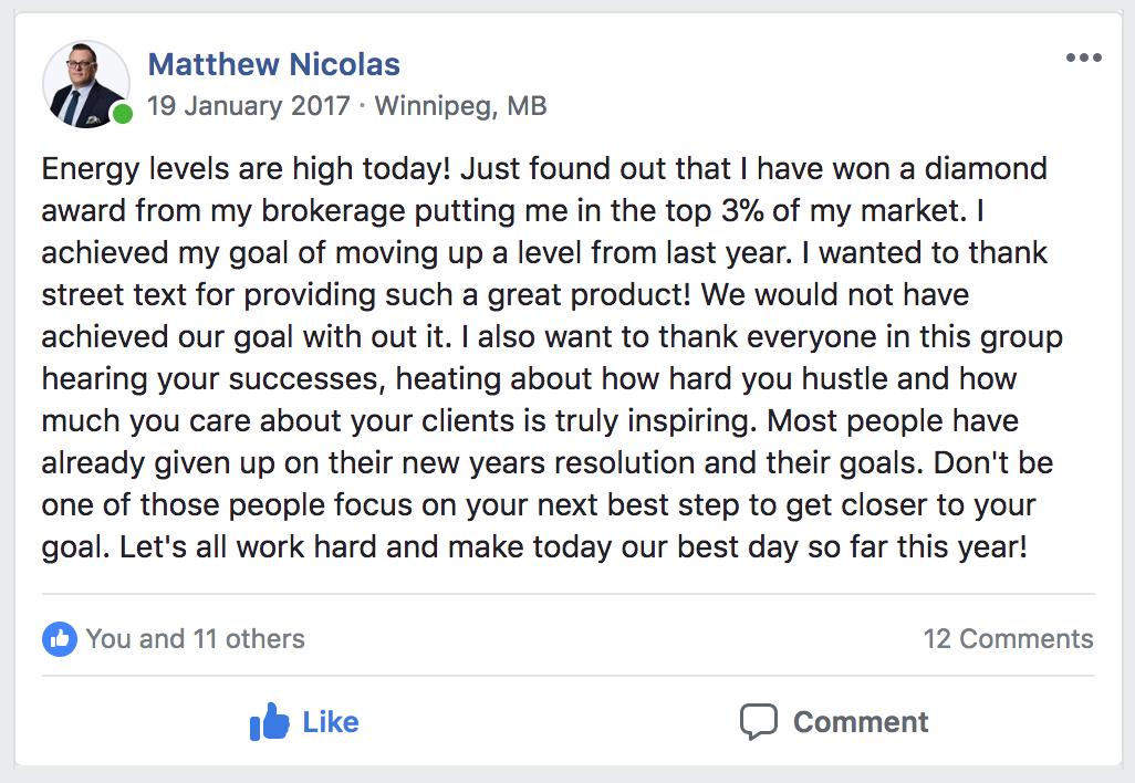 Matthew Nicolas facebook comment