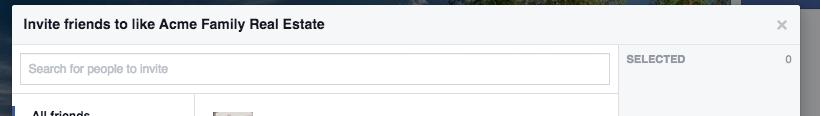 Screen Shot of Facebook friend invite