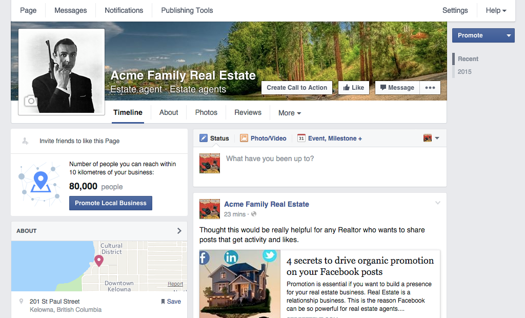 Learn how to create a killer real estate Facebook business page.