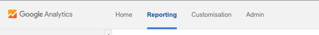 Google Analytics main nav