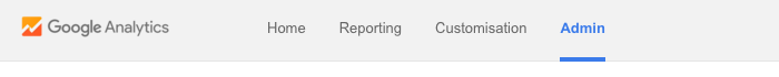 Google Analytics main navigation