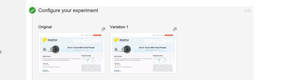 Google A/B Experiments