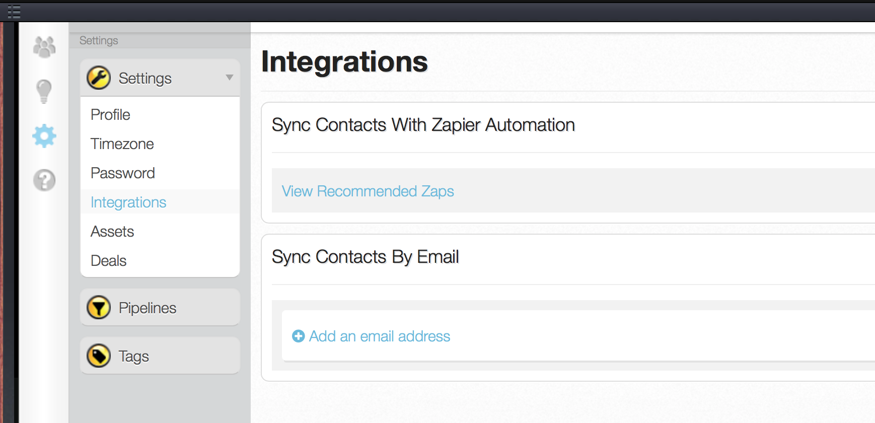 StreetText Integrations page