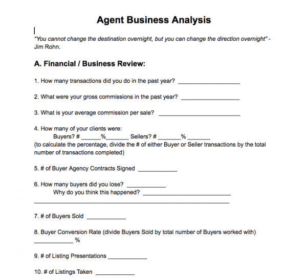Agent Business Plan