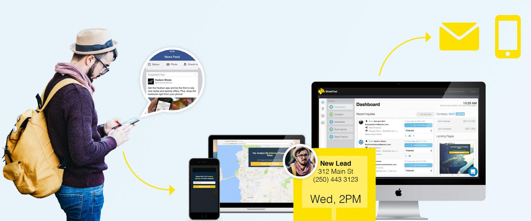 Run Facebook lead capture on StreetText