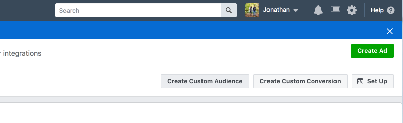 Create custom audience for Facebook pixel